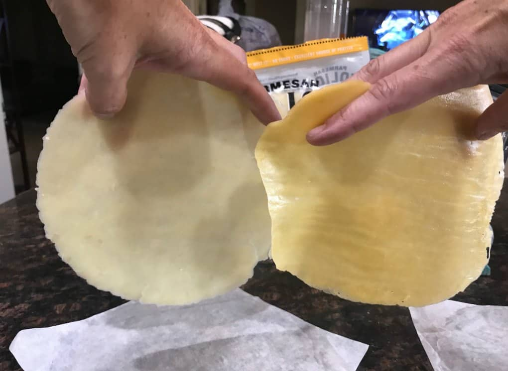 No Carb Cheese Wrap FOLIOS Copycat Recipe (Keto Friendly Cheese Tortilla)
