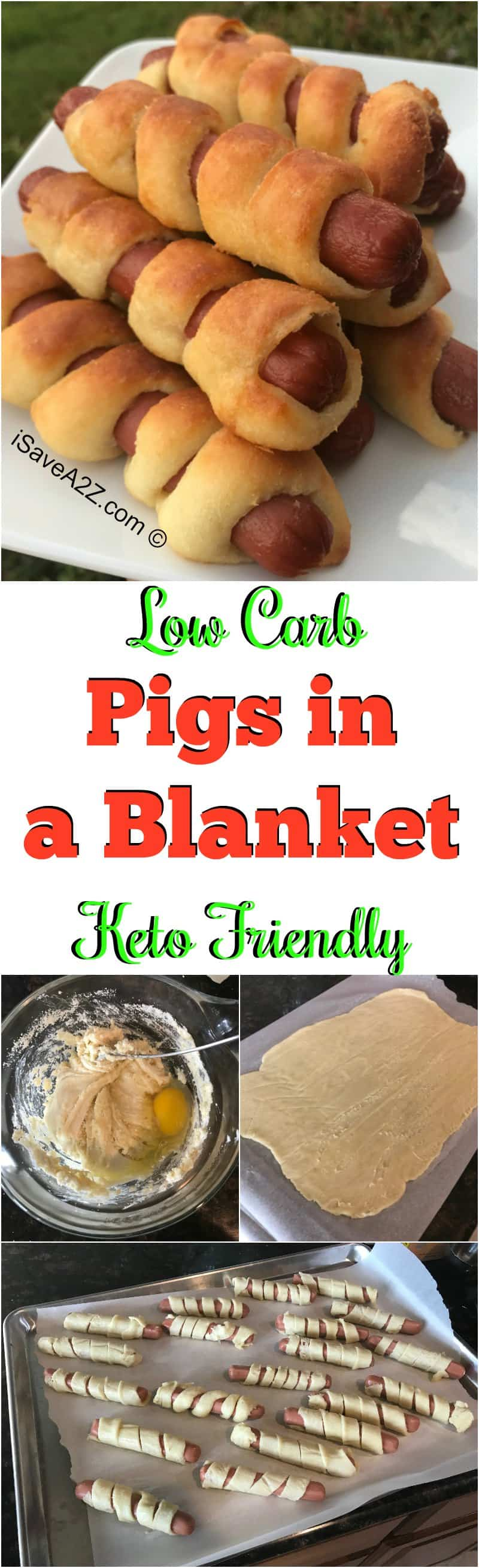 Low Carb Keto Pigs in a Blanket Recipe made with Fat Head Dough
