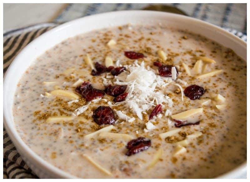 Low Carb Overnight Chia Oatmeal Recipe