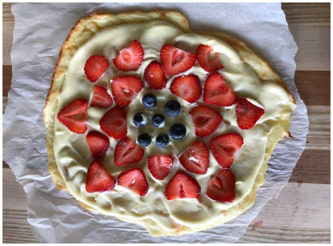 Keto Fruit Pizza Dessert Recipe