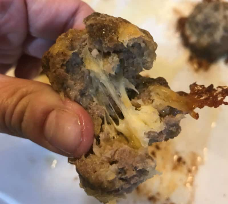Keto Cheese Stuffed Meatballs Recipe