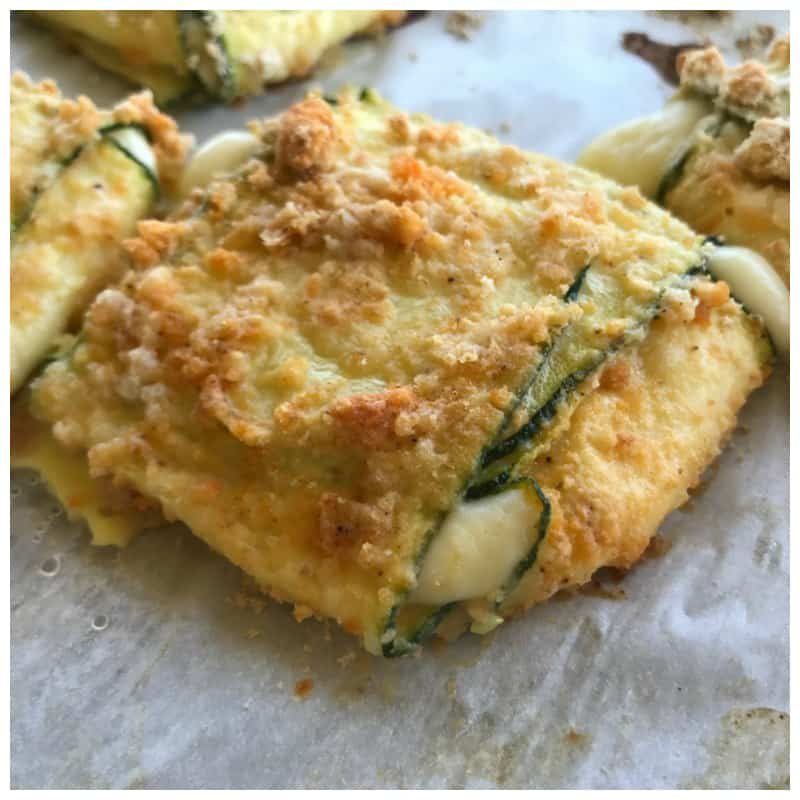 Low Carb Baked Zucchini Mozzarella Cheese Squares