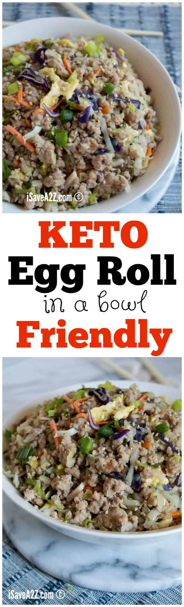 Keto Egg Rolls (in a bowl) Recipe