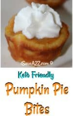 Keto Mini Pumpkin Pie Bites