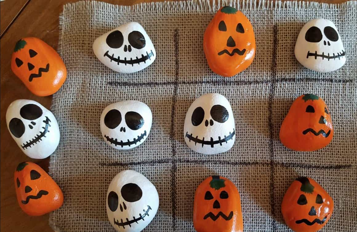 Halloween Tic Tac Toe Set Craft Idea