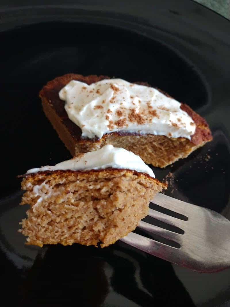 Keto Pumpkin Bread Cake Recipe with frosting