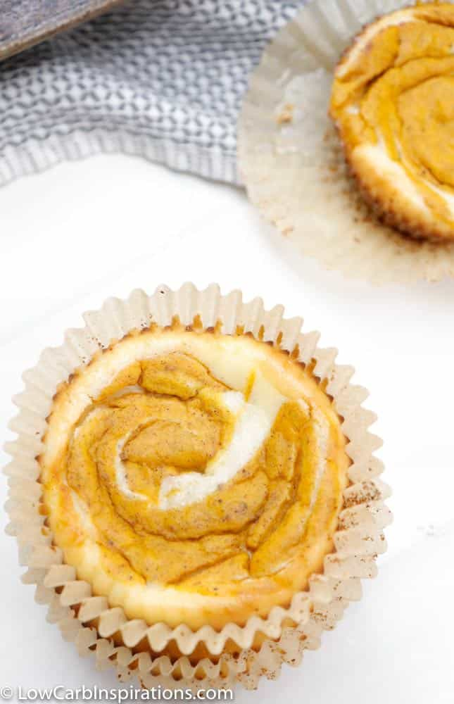 Looking for keto-friendly pumpkin recipes this fall? Look no further! These tasty keto pumpkin cheesecake cupcakes are just what you need to celebrate the cooler months of fall and even winter.