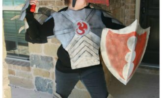 Dragon Knight Costume Made Out Of Boxes – Boxtumes!