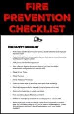 Fire Prevention Checklist (Printable)