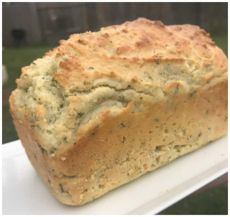 savory keto bread r on cutting board
