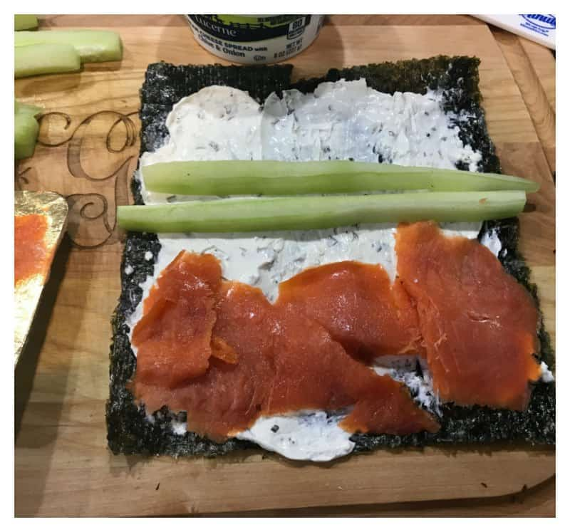Keto Sushi Rolls with Smoked Salmon and Cucumber ...