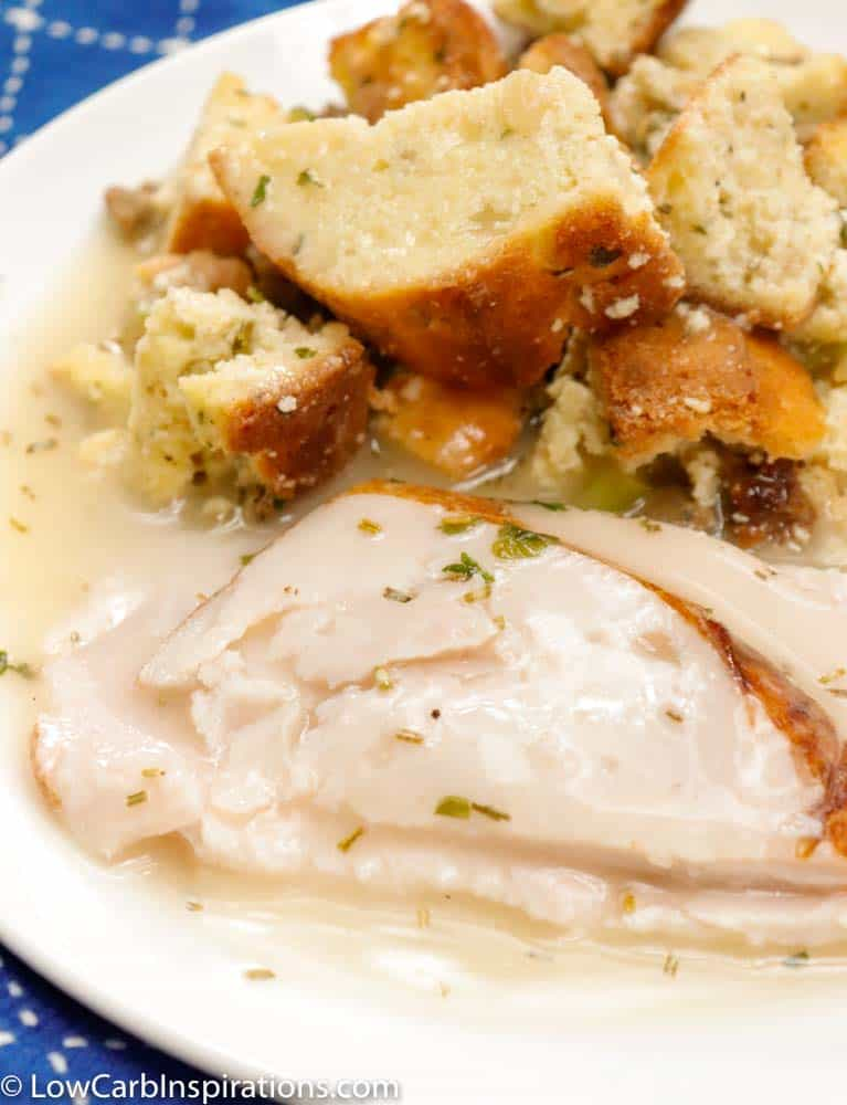 Rich, creamy, savory and flavor packed keto gravy made with turkey drippings. Perfect for Thanksgiving and fall season.