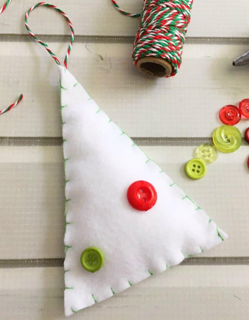 Felt Tree Ornament Craft