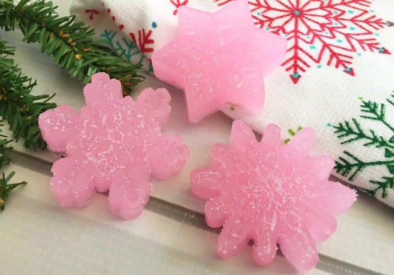 Peppermint sugar scrub cubes