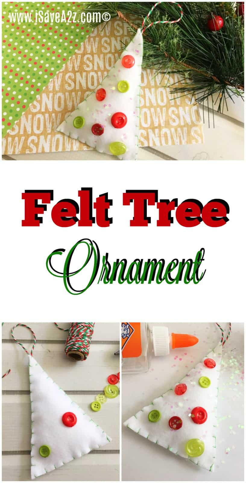 Felt Tree Ornament Craft Idea
