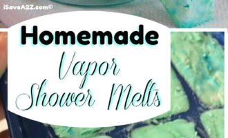 Homemade Shower Melts Recipe Using Vapor Rub or essential oils
