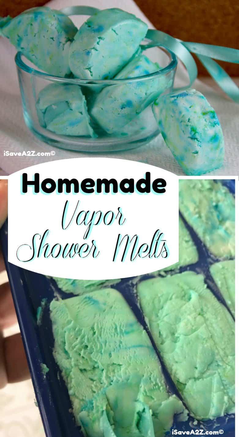 Homemade Shower Melts Recipe Using Vapor Rub or essential oils