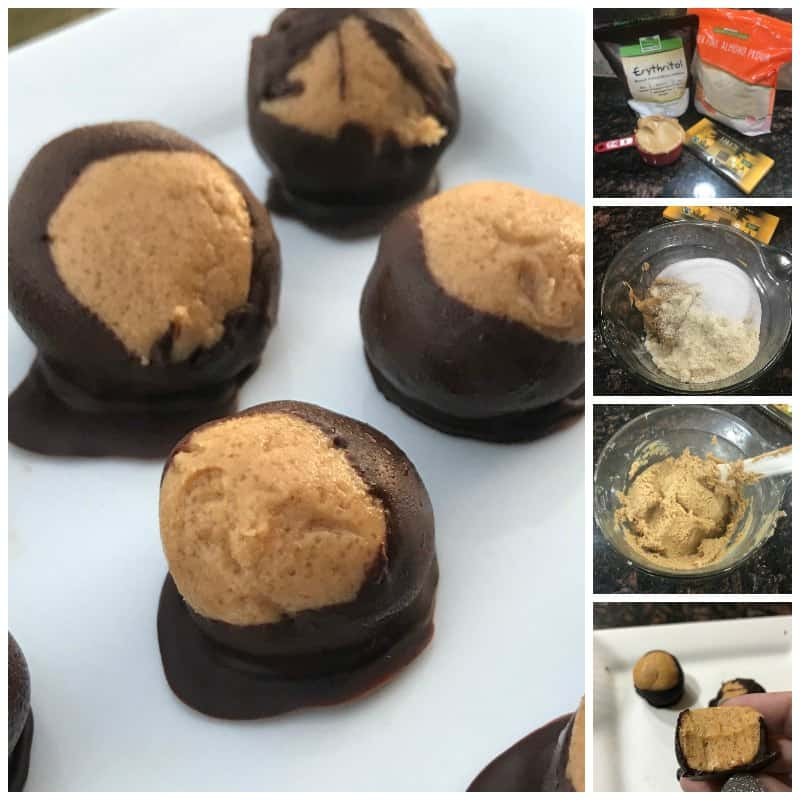 Keto Buckeyes Chocolate and Peanut Butter Balls Recipe