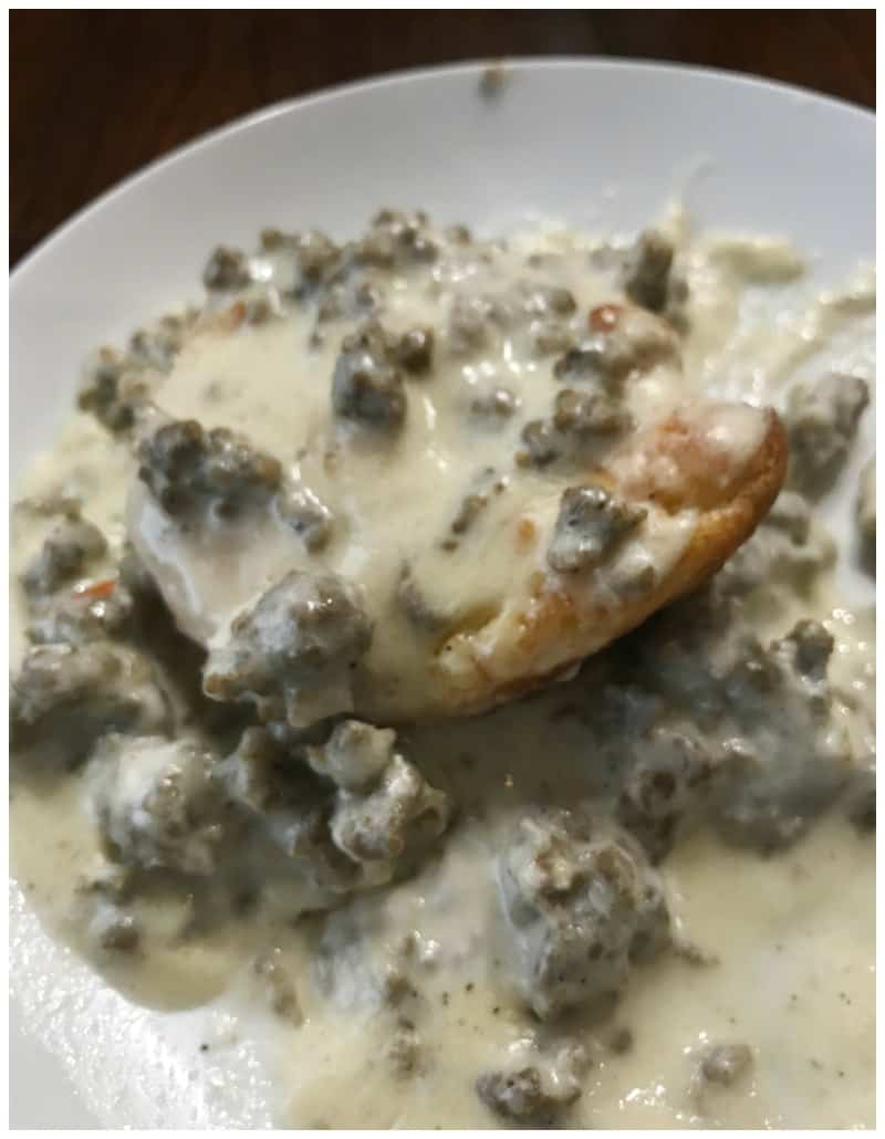 Keto Sausage, Biscuits and Gravy Recipe