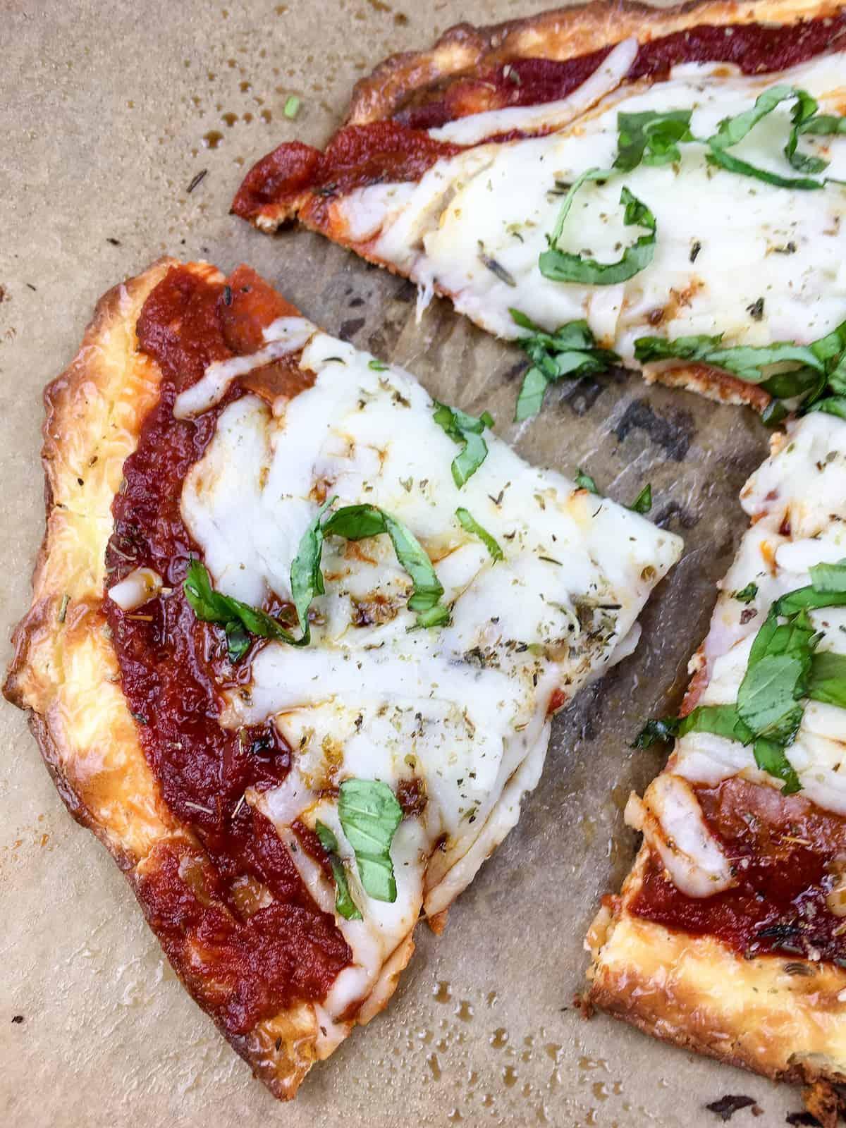 Keto Basil Pizza Recipe