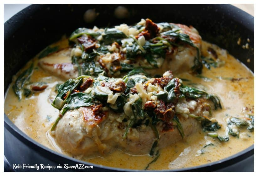 Low Carb Creamy Tuscan Chicken Recipe