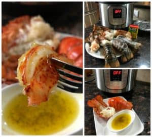 Pressure Cooker Lobster Tails with Butter Sauce