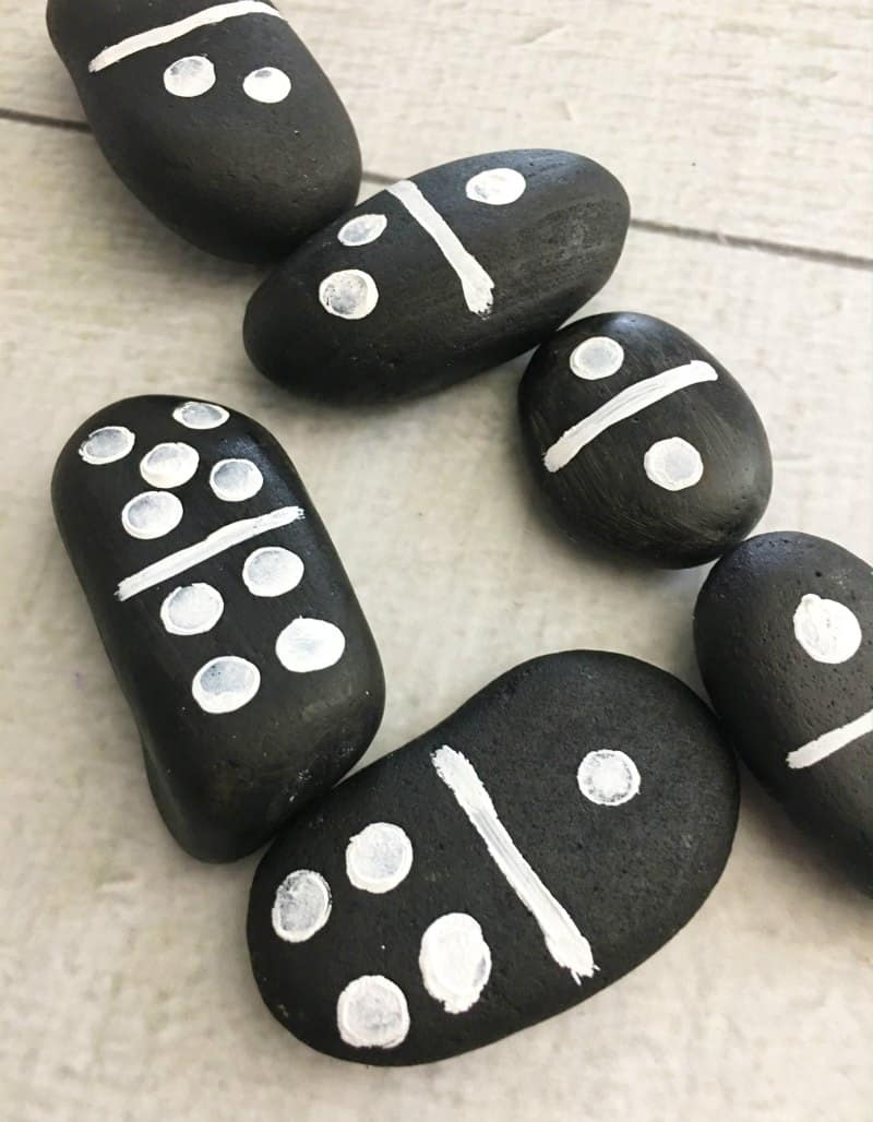 Rock Dominoes - Fun Craft Idea for Kids