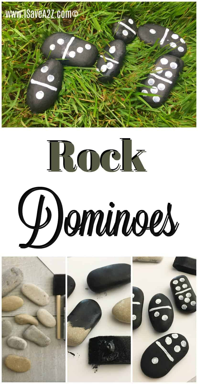 Smooth rocks aren't just for skipping them across the water anymore! You can make Rock Dominoes! With 28 smooth oval shaped rocks, you and your kids can make this fun craft idea that you can enjoy for hours at a time.
