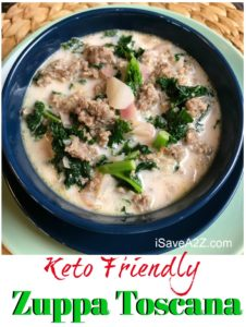 Low Carb Keto Zuppa Toscana Soup Recipe