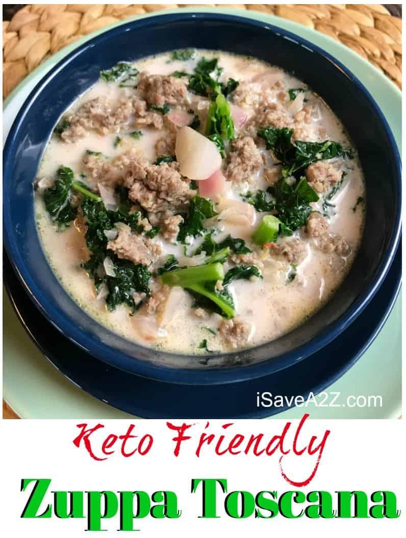 Low Carb Keto Zuppa Toscana Soup Recipe