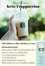 How to Order a Keto Frappuccino from Starbucks (Printable Card Included)