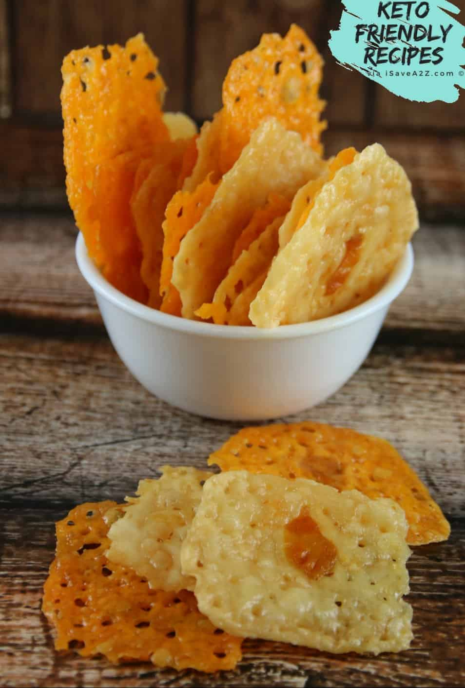 Lazy Keto Chips (only 2 ingredients needed) - iSaveA2Z.com