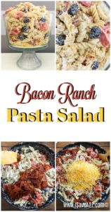 This is Bacon Ranch Pasta Salad! This recipe is an excellent choice for birthday parties, family getaways, holiday getaways and many more! This bacon ranch pasta salad is the perfect recipe you could ever have! Your family and loved ones will surely love this delicious pasta salad. It will surely melt in your mouth!
