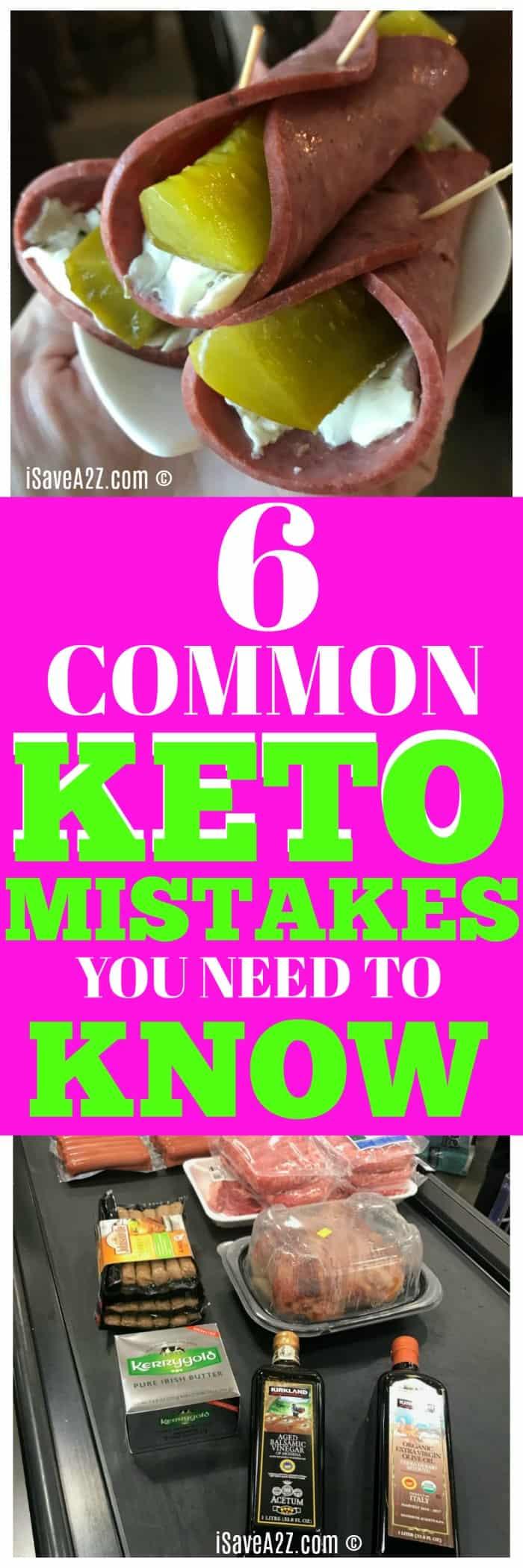 Common Mistakes on Keto