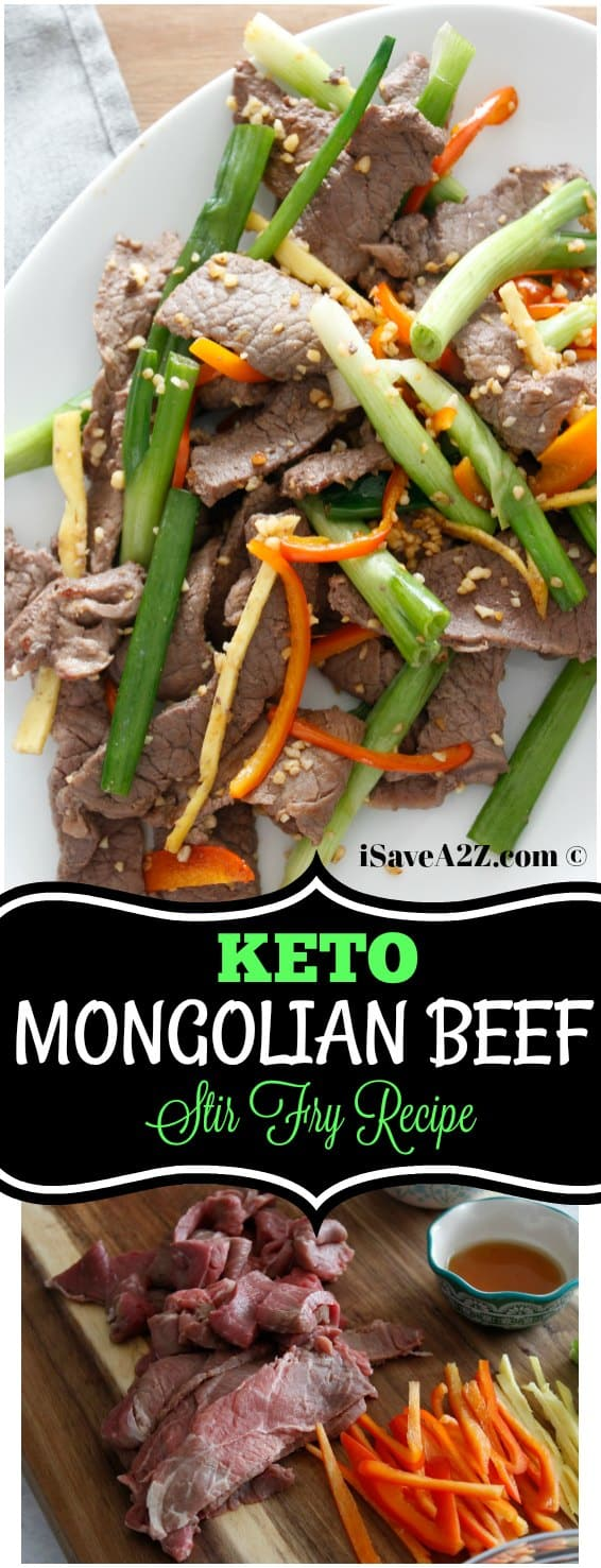 Keto Chinese food options with this Keto Mongolian Beef Stir Fry Recipe