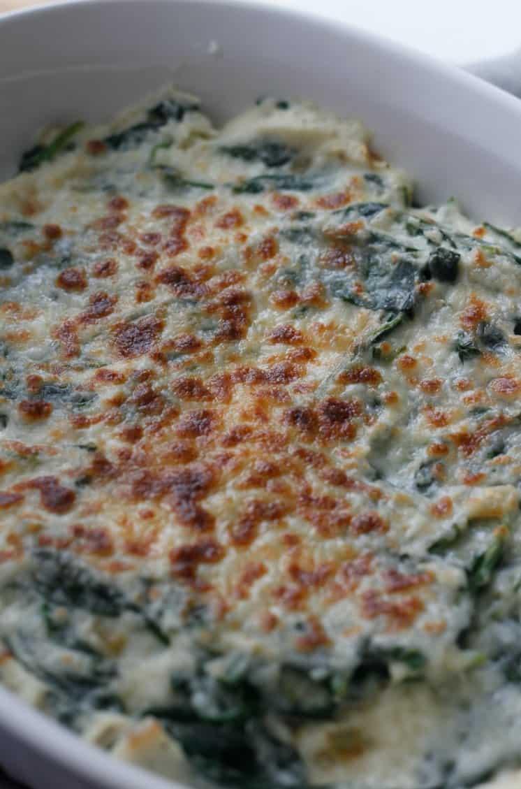 Low Carb Cauliflower Creamed Spinach Recipe