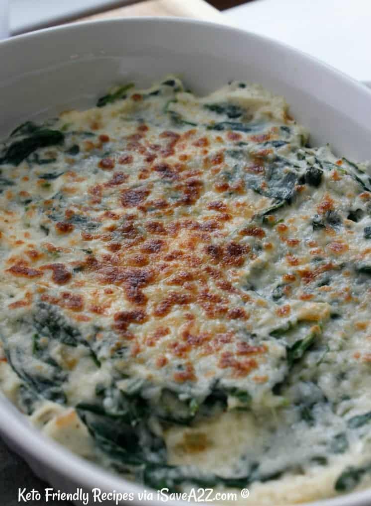 Low Carb Cauliflower Creamed Spinach Recipe Isavea2z Com
