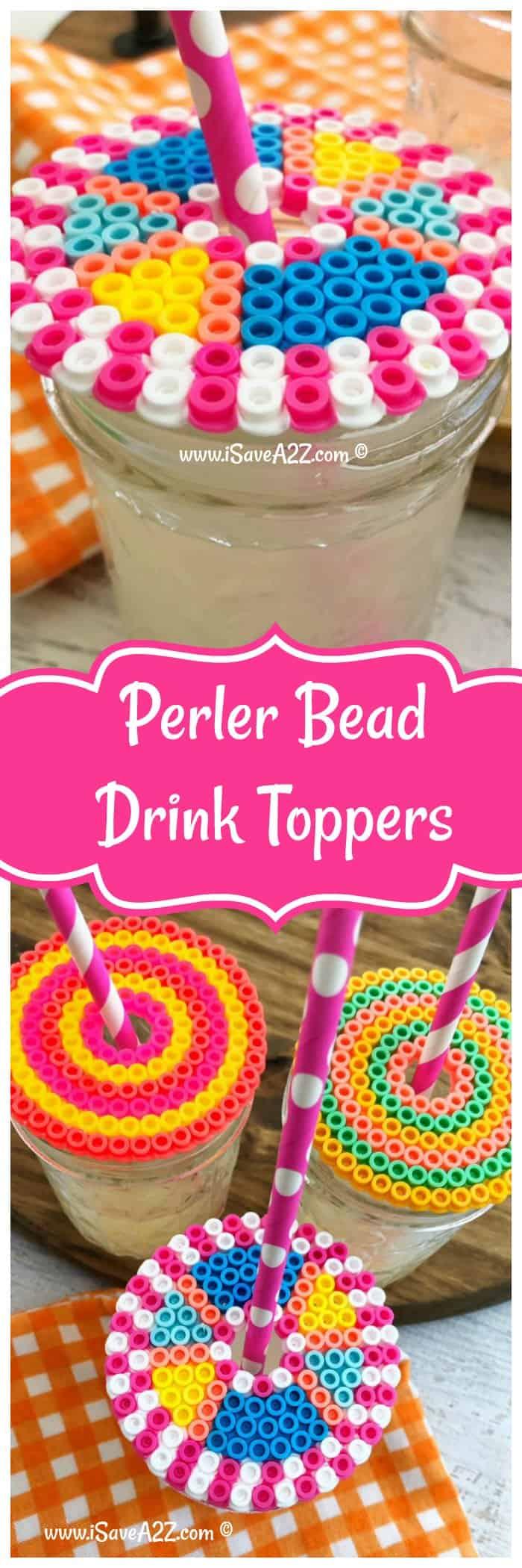 Perler Ideas:  Perler Beads Drink Topper