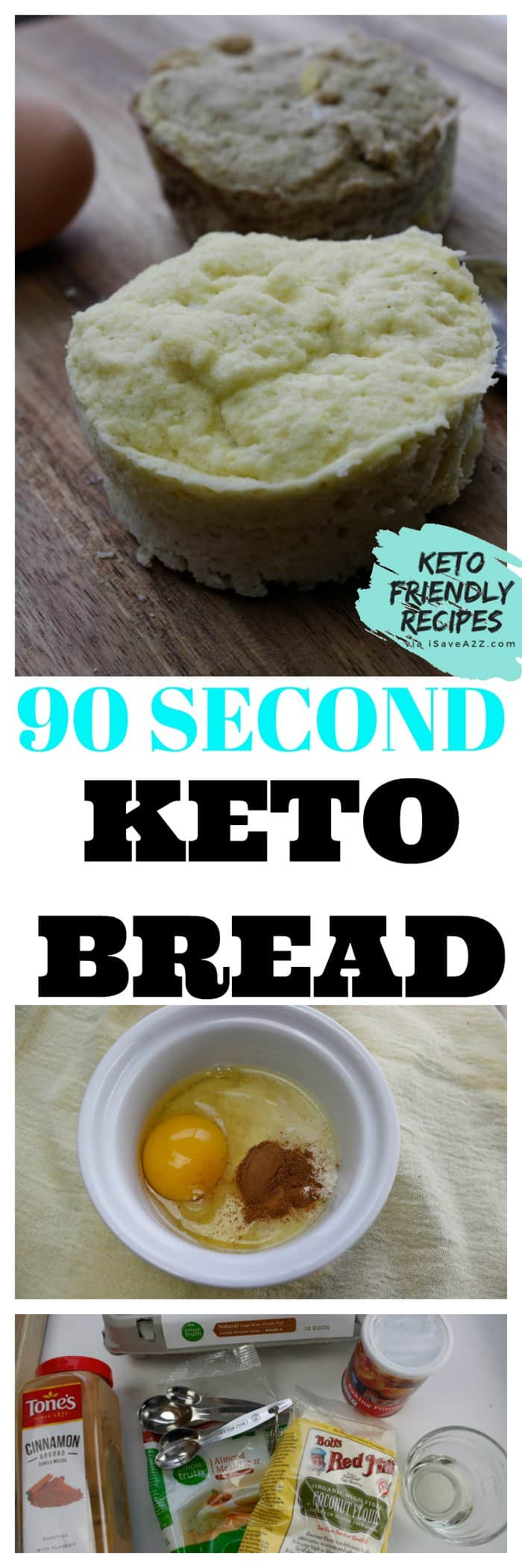 Keto 90 Second Bread Recipe done 2 different ways - Sweet or Savory!