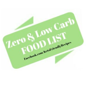 Almost Zero Carb Food List or Low Carb Food List