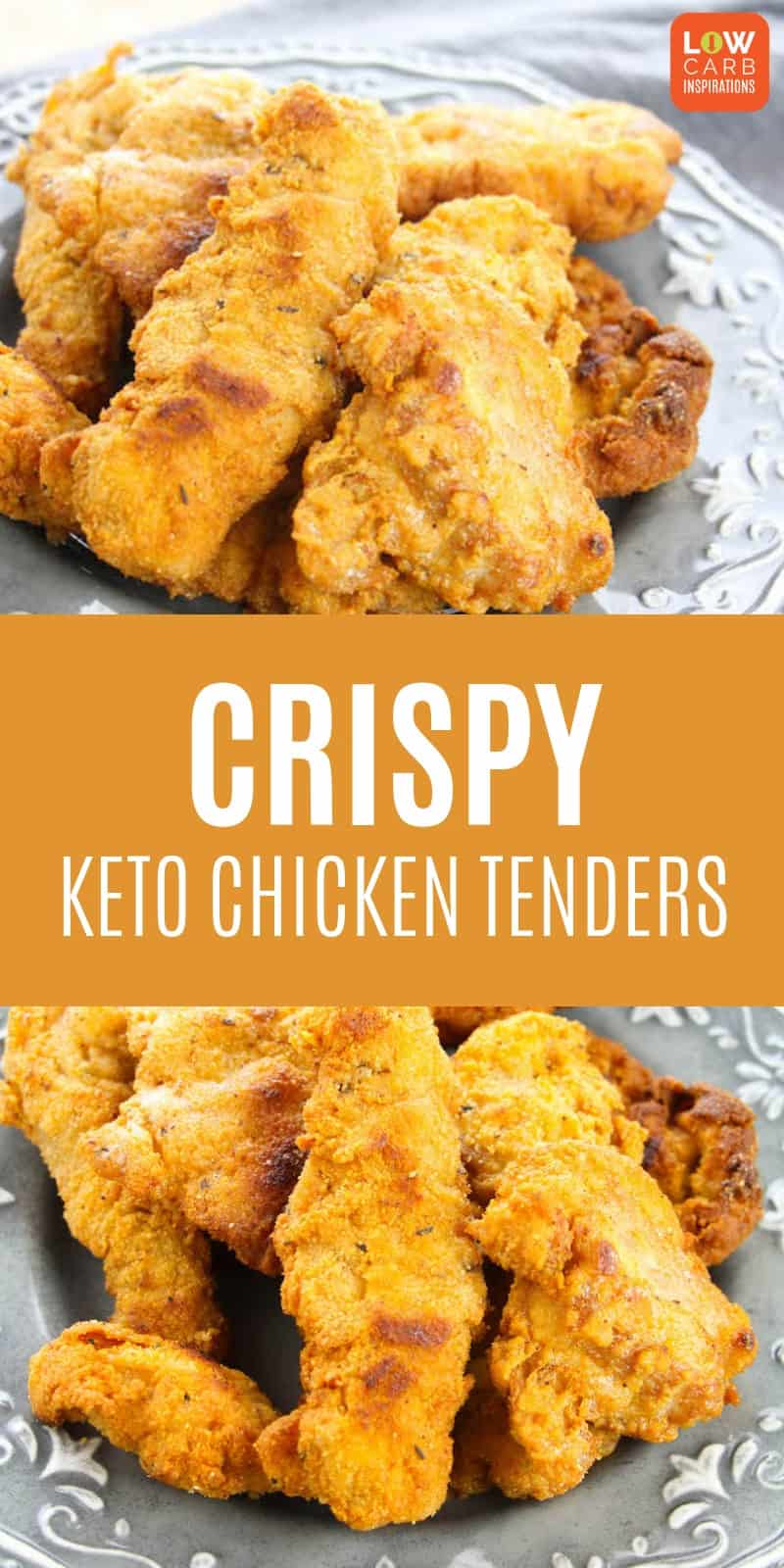 Keto Fried Chicken that's nice and crispy!