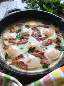 The BEST Creamy Keto Skillet Eggs Recipe