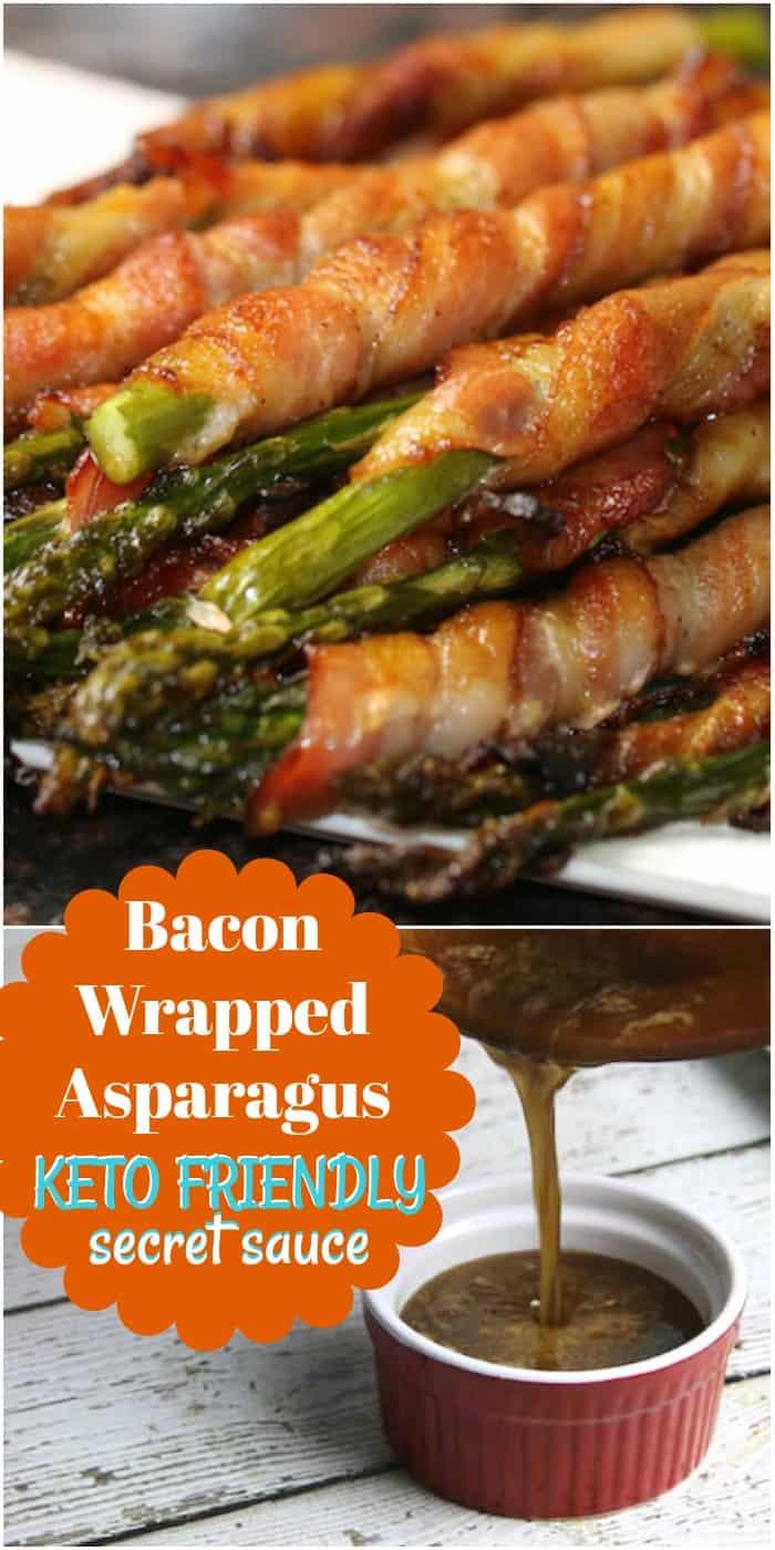 Keto Bacon Wrapped Asparagus Recipe with a secret sauce