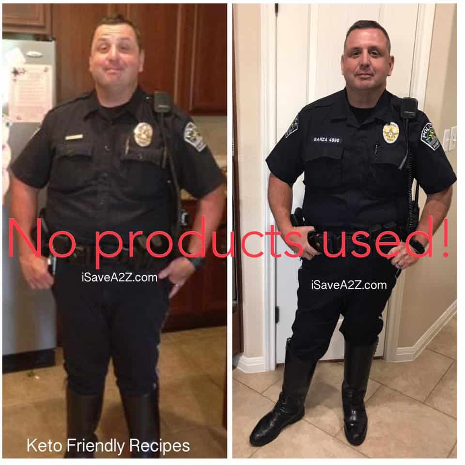 Keto Before and After Pictures showing a weight loss transformation