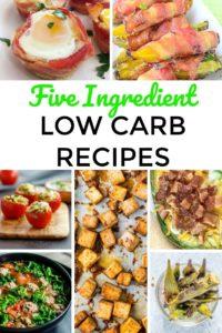 20 Five Ingredient Low Carb Recipes