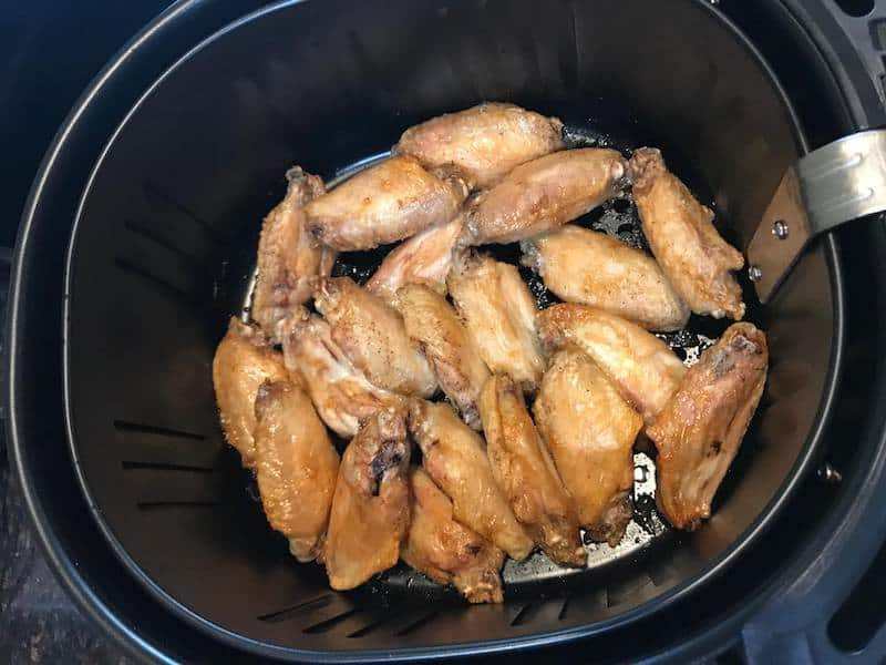Keto Buffalo Chicken Wings made in the Air Fryer
