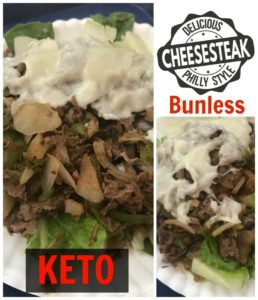 Super Easy Bunless Keto Philly Cheesesteak Recipe