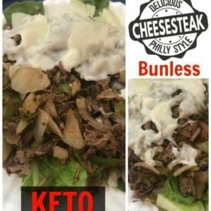 Super Easy Bunless Keto Philly Cheesesteak Recipe