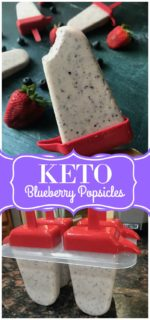 Creamy Blueberry Keto Popsicles Recipe (No Sugar and Low Carb)