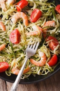 Keto Skillet Shrimp Scampi and Zoodles